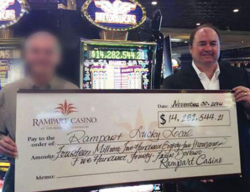 Rampart Casino: Megabucks 14 million winner donates all to charity