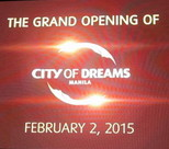 Grand opening of City of Dreams Manila