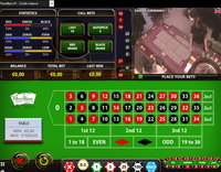 Online roulette with live dealers in land based casino