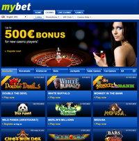 Mybet Casino home