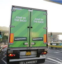 Adverising Paddy Power: Jump in the back