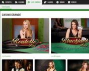 Unibet Casino: live dealers