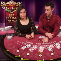 Blackjack Party , best live blackjack of Evolution Gaming