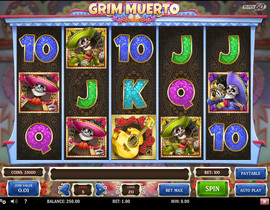 Grim Muerto Slot in Exclusivebet Casino