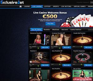 Exclusivebet Live dealers Casino