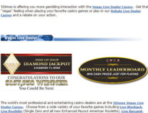 5Dimes, the casino that accepts American players.