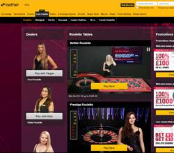 Betfair Casino: Playtech Live Dealers