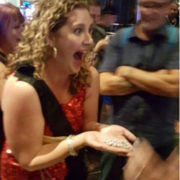 Leslie Sategna with $35000 chips