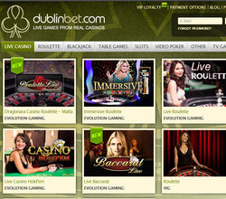 Dublinbet's strategy : to offer live tables from many softwares