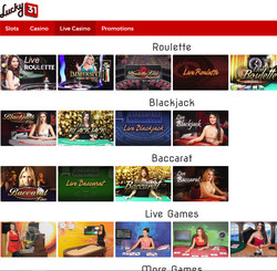 Lucky31 Casino on Live Dealers Casino