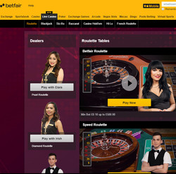 Betfair Casino Live