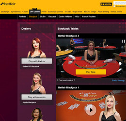 Betfair: Online Casino with Live Dealers