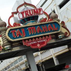 Trump's name removed from the Taj Mahal Casino