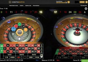 Authentic Roulette Double Wheel live from a real casino