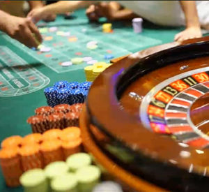 New Evolution Gaming online roulette table in the Grand Casino Bucharest