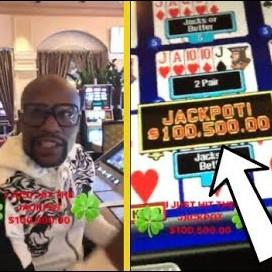 Las Vegas Casino : Floyd Mayweather wins jackpots