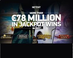 Netent Progressisives Jackpots : more than 78 million paid out in 2017