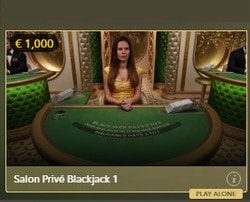 Evolution's Salon Privé : VIP Section available on Lucky31 Casino