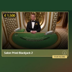 Salon Privé Blackjack from Evolution Gaming