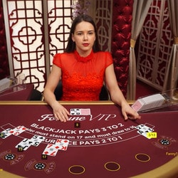 Live dealer blackjack on online casino