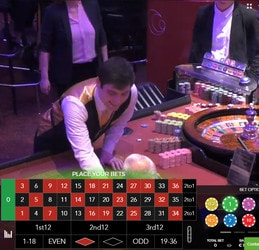 Live Roulette with live dealers in land based casinos