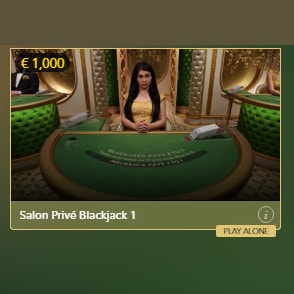 Play Salon Privé Blackjack in Casino Extra