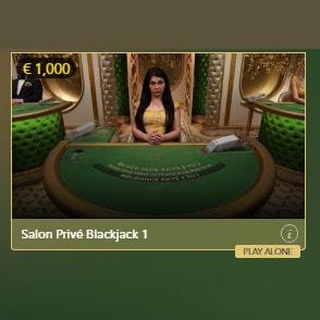 Play Salon Privé Blackjack in Casino Extra