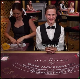Diamond VIP Blackjack : Live Blackjack table for High Rollers