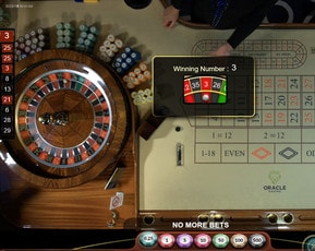 Roulette 360 : play live from the Oracle casino