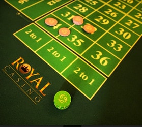 Live Roulette from the Royal Casino Aarhus (Denmark)