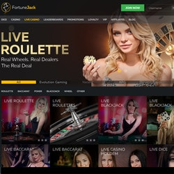 Fortunejack, bitcoin casino with 6 types of software