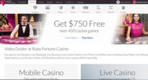 Ruby Fortune recommended by Live Dealers Casino