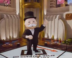 Online Monopoly game with 3D animation streamed from a studio