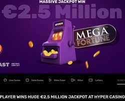 Mega Fortune Dreams, Netent progressive jackpot won in a legal Swedish casino