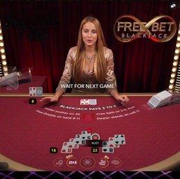 Free Bet Blackjack, a new way to play live blackjack