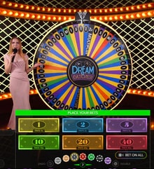 Dream Catcher, the best Wheel of Fortune with Live Dealer