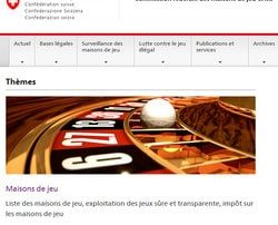 First online casinos' blacklist banned by the Swiss CFMJ