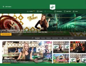 Mr Green is the best legal live casino in the United Kingdom