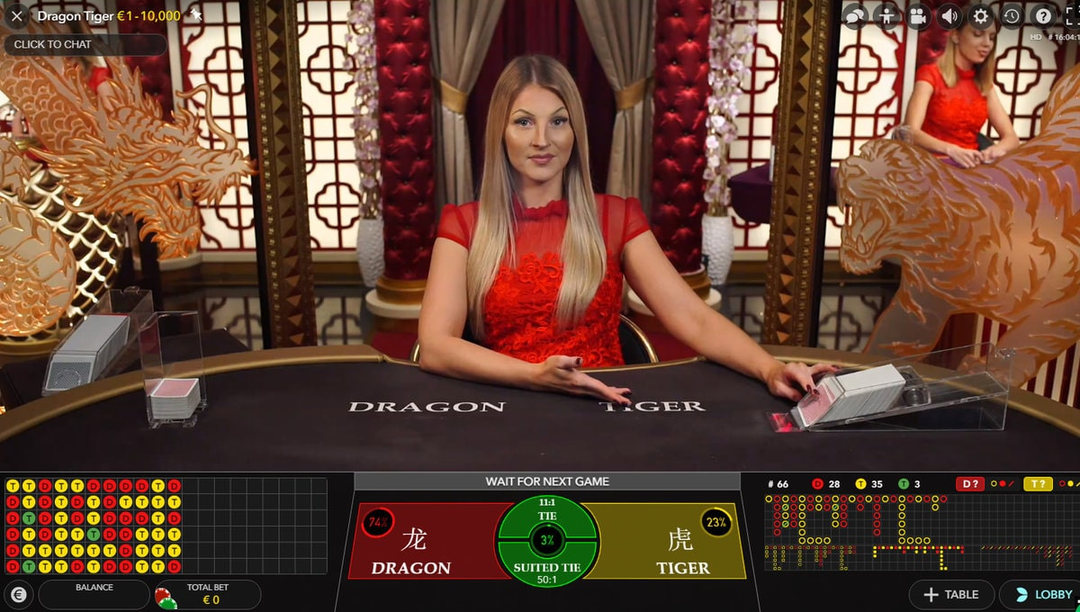 Live baccarat, dragon tiger