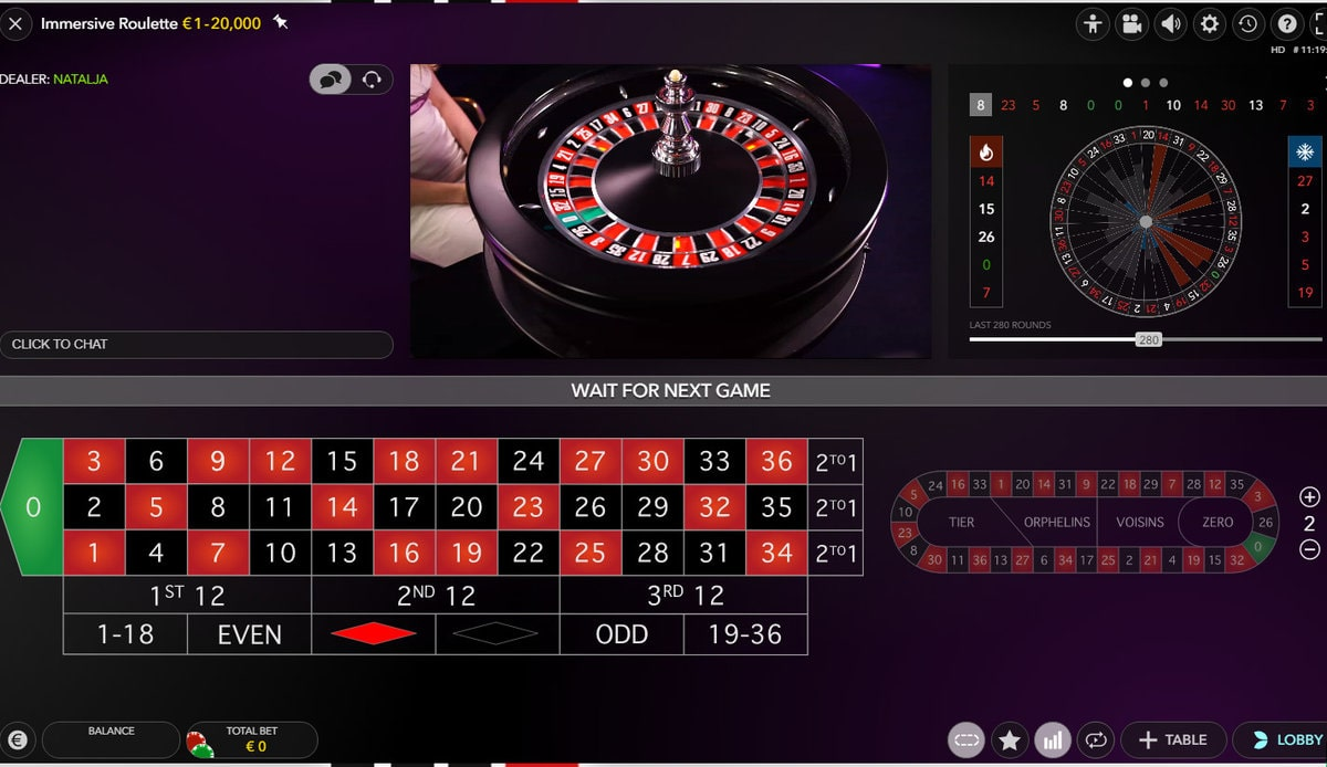 Evolution Gaming's Live Immersive Roulette
