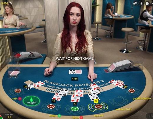 live dealer, online blackjack