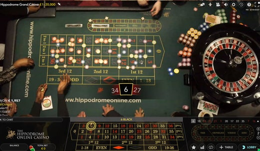 live roulette, london hippodrome casino