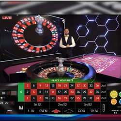 Play Authentic Gaming's live Roulette on FortuneJack