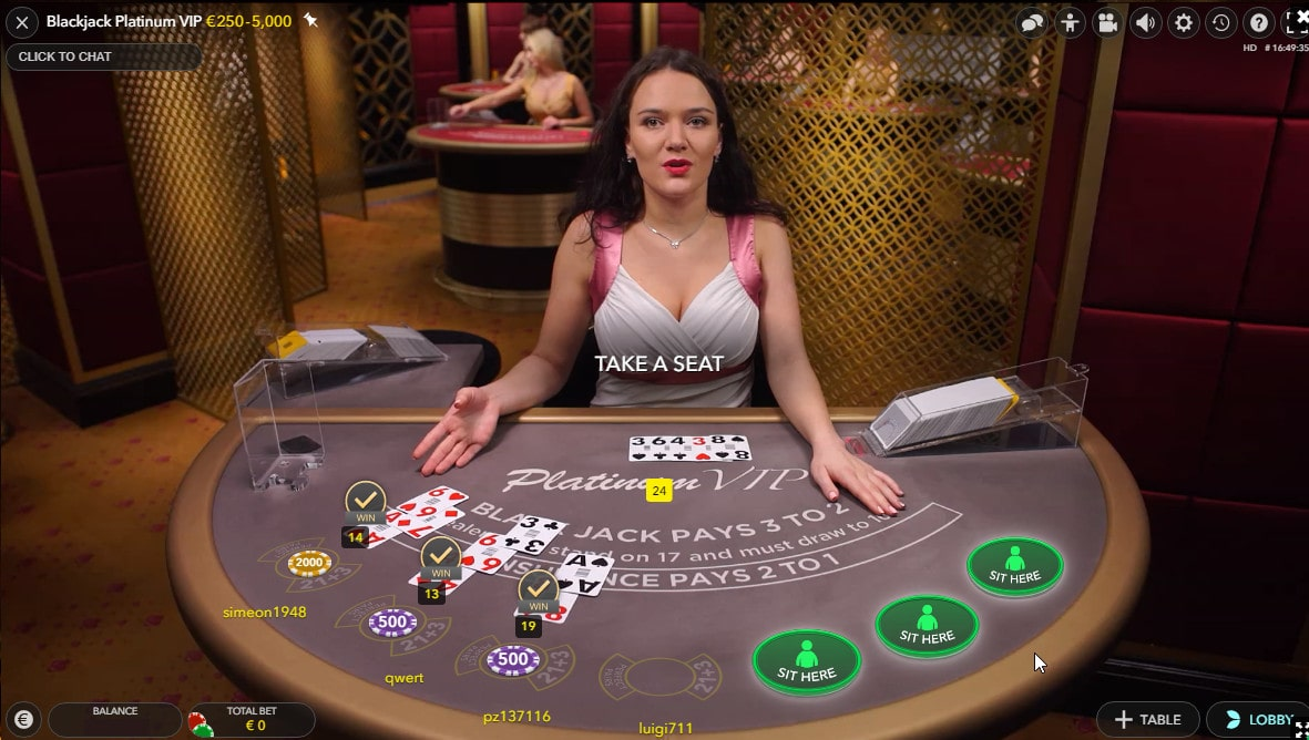 How to play Blackjack on Live dealers casino
