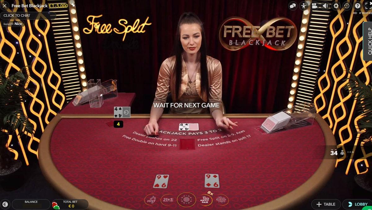 Free Bet Blackjack Evolution Gaming
