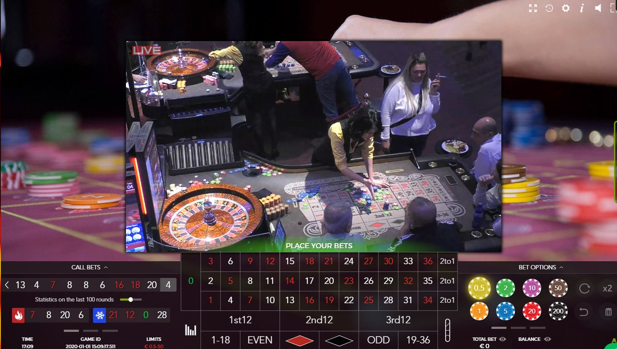 Roulette in live from International Casino Batumi