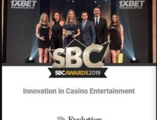 Evolution Gaming honoured again at the SBC Awards 2019