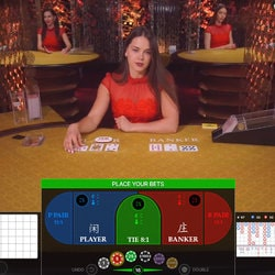 Play Baccarat Squeeze at PlayFrank Live Casino