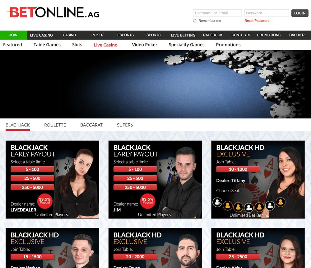 BetOnline Live Casino