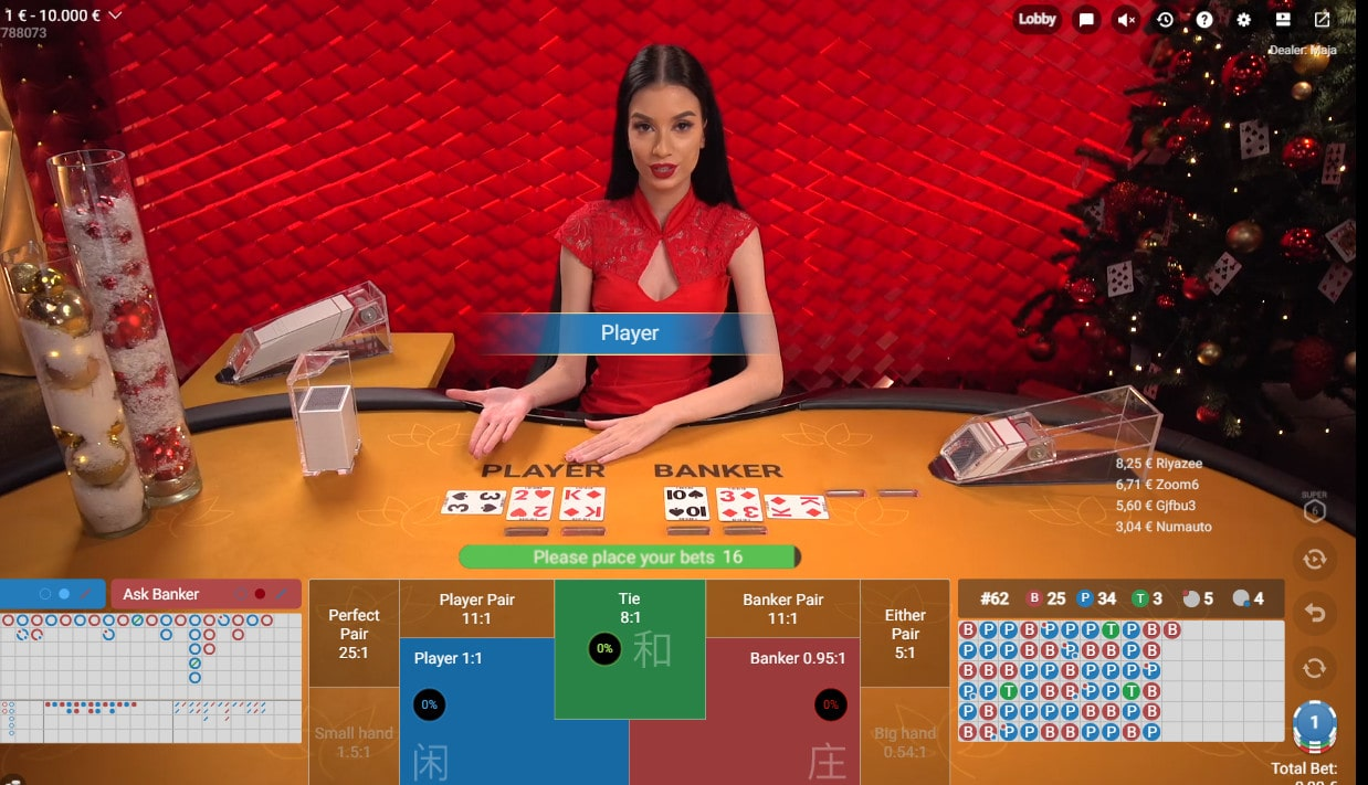 Online baccarat table by Pragmatic Play Live Casino